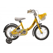 Детский велосипед Gravity Flower 14, жёлтый