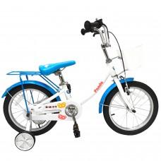 Детский велосипед Gravity Panda бело-голубой