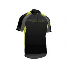 Джерси kellys pro sport, короткий рукав. материал: 100% полиэстер. цвет: черный, серый, желтый. размер: xs.