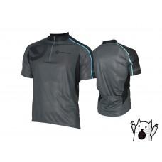 Джерси kellys pro sport, короткий рукав. материал: 100% полиэстер. цвет: серый с голубой полоской. размер: s.