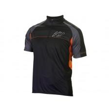 Джерси Джерси kellys pro sport, короткий рукав. материал: 100% полиэстер. цвет: черный, серый, оранжевый. размер: xs.