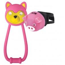 Комплект освещения KLS ANIMAL розовый: силиконовые фонарики TEDDY+PIGGY