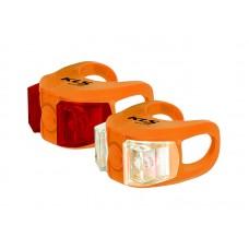 KELLYS Комплект освещения TWINS, 2 диода, 2 режима, батарейки в компл., оранжевый