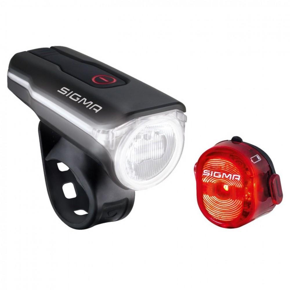 Комплект освещения SIGMA SPORT AURA 60 USB / NUGGET II с кабелем USB