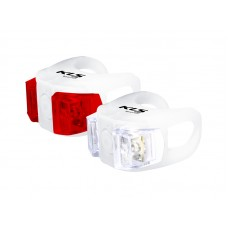 Kellys комплект освещения twins, 2 диода, 2 режима, батарейки в компл., цвет белый
