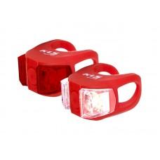Kellys комплект освещения twins, 2 диода, 2 режима, батарейки в компл., цвет красный
