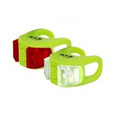 Kellys комплект освещения twins, 2 диода, 2 режима, батарейки в компл., цвет зелёный
