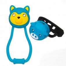 Комплект освещения KLS ANIMAL синий: силиконовые фонарики TEDDY+PIGGY