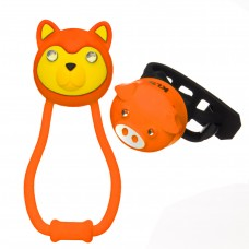 Комплект освещения KLS ANIMAL оранжевый: силиконовые фонарики TEDDY+PIGGY