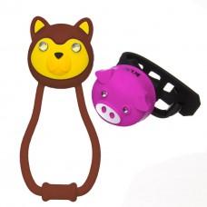 Комплект освещения KLS ANIMAL коричнев./розов.: силиконовые фонарики TEDDY+PIGGY