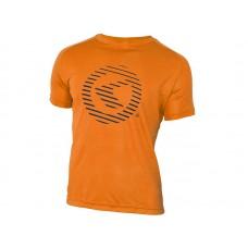 Футболка kellys active для занятий спортом. материал: полиэстер. цвет: оранжевый. размер: s.