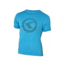Футболка kellys active для занятий спортом, короткий рукав. материал: 100% полиэстер. цвет: синий. размер: s.