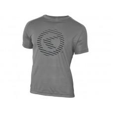 Футболка kellys active для занятий спортом, короткий рукав. материал: 100% полиэстер. цвет: серый. размер: s.
