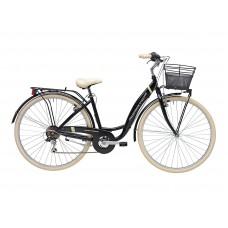 Комфортный велосипед Adriatica Panda 28, черный, 6 скоростей, размер рамы: 420мм (17)