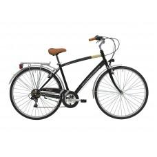Комфортный велосипед Adriatica Trend Man, черный, 6 скоростей, размер рамы: 500мм (19,5)