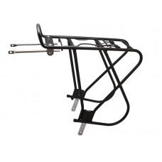 """Багажник для велосипеда Bor yueh by-378tc, 26-28"""", алюминий, с боковыми дугами, с пружиной, чёрный"""