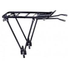 Багажник HS-019B 26-28, алюминий, с пружиной, серебристый