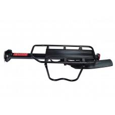 Багажник HS-H022AD консольный, алюминий, с эксцентриком, с защитными дугами, интегрированное крыло, макс.нагр.10кг