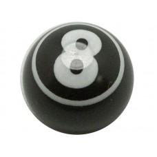 """Колпачок на автониппель алюминиевый """"бильярдный шар"""" Цвет: черный"""