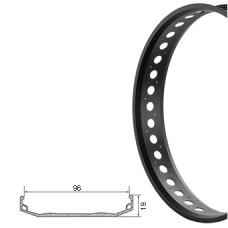 Велосипедный обод S96 одинар. 26x4-1/4, чёр./CNC 32H
