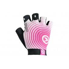 Велосипедные перчатки Kellys instinct short без пальцев цвет: белый розовый