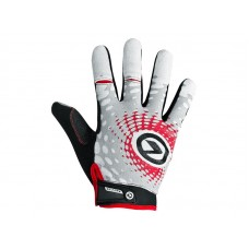 Велосипедные перчатки Kellys impact long lyсra цвет: белый серый красный