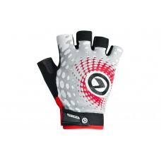 Велосипедные перчатки Kellys impact short lyсra цвет: белый серый красный