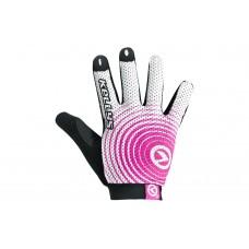 Велосипедные перчатки Kellys instinct long цвет: белый розовый