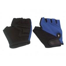Велосипедные перчатки TBS h-89. материал: нейлон/ладонь с кевларовой нитью. цвет: чёрный/синий. размер: s