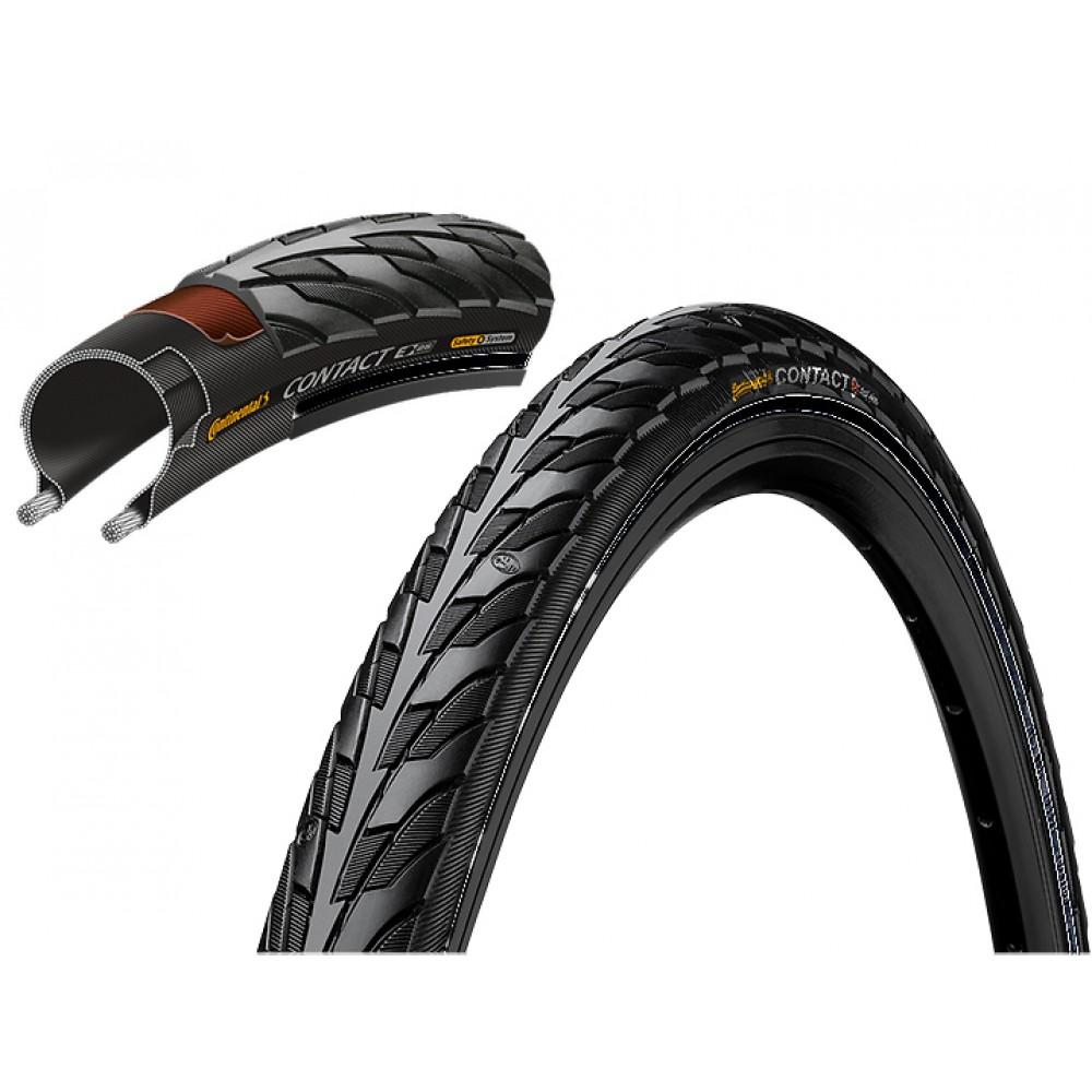Велосипедная покрышка Покрышка Continental CONTACT, 26 x 1.75,(47-559) , чёр./чёр. SafetySystemBreaker