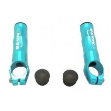 Рога sd-218m, алюминий 6061, d:22,2мм, длина 82мм, вес 58г, голубые
