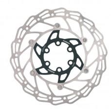 Alhonga диск тормозной 140мм нержавеющая сталь серебристый/чёрный с болтами