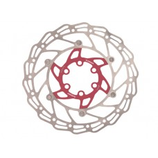 Alhonga диск тормозной 140мм нержавеющая сталь серебристый/красный с болтами