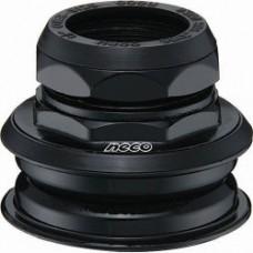 """NECO Рулевая H128N, 1-1/8"""" полуинтегрированная резьбовая, 25,4x44x30, чёрная, сталь, подшипники 5/32""""x22x2шт., с якорем C2861, в торг.уп."""