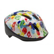 """Детский велосипедный шлем BELLELLI Шлем детский """"ладошки"""" белый, М (52-57cm)"""