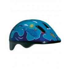Детский велосипедный шлем Вellelli цвет: синий/голубой. рисунок: дельфины. размер: м (52-57cm)
