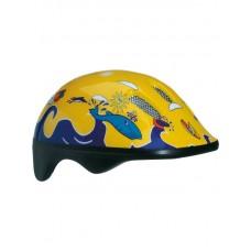 Детский велосипедный шлем Bellelli цвет: желтый/синий. рисунок: дельфины. размер: м (52-57cm)