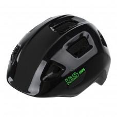 Шлем KLS ACEY чёрный XS (45-49см). Двухкомпонентное литьё, 10 вент. отверстий, светоотражающие стикеры