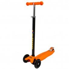 Детский трёхколёсный складной самокат Starbaby SKL-07, цвет оранжевый