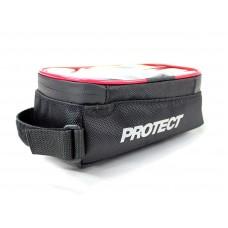 Велосумка на раму, р-р 19х9х10 см, цвет черный, PROTECT
