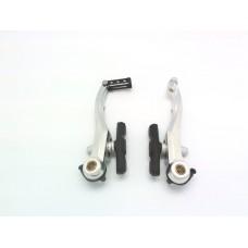 Promax тормоз v-brake tx-120 передний, алюминий, рамки 108мм, направляющая 110*,, серебр.