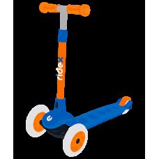 Самокат 3-х колесный RIDEX Hero, 120/80 мм, синий/оранжевый