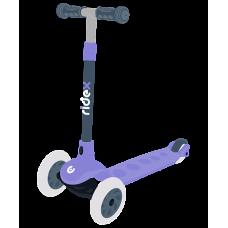 Самокат 3-х колесный RIDEX Hero, 120/80 мм, фиолетовый/серый