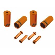 Jagwire наконечники оболочек (10х4мм, 6х5мм) и тросов (4шт.) оранжевые. комплект