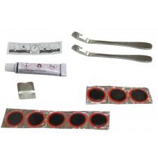 Mingda Ремкомплект: резиновый клей 8мл, 8 заплаток D:25мм, наждачка, 2 стальные монтажки, инструкция, в пластиковой к...