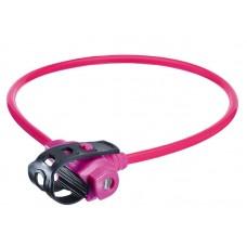 Велосипедный замок Trelock ks 211. 10мм х 75см. уровень защиты: 2. цвет: розовый. с держателем fixxgo