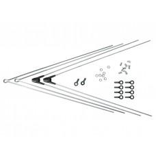 Комплект крепежа для BLUEMELS: 2 стойки ASR, 2 V-стойки 355 мм серебр.