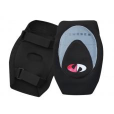 Защита коленей мягкая. цвет: черный. комплект из 2 штук.