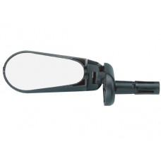 Велосипедное зеркало TBS dx-2280sf складное, с регулировкой в различных плоскостях, с мигалкой, крепится в руль с внутренним d:15-22мм