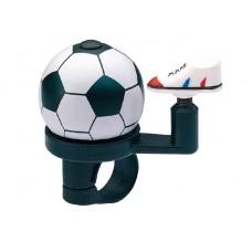 Велосипедный звонок jh-302, d:38 мм. материал: алюминий/пластик. дизайн: футбольный мяч. крепление: для руля d:22,2
